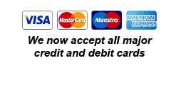 We now accept all major credit and debit cards